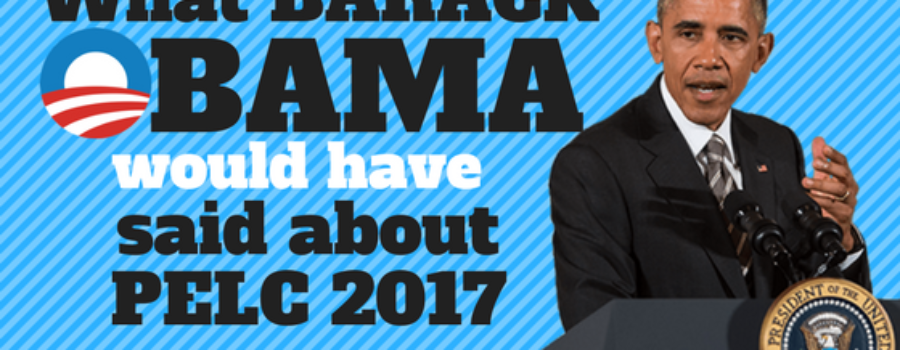 What Barack Obama (Would Have) Said About PELC 2017